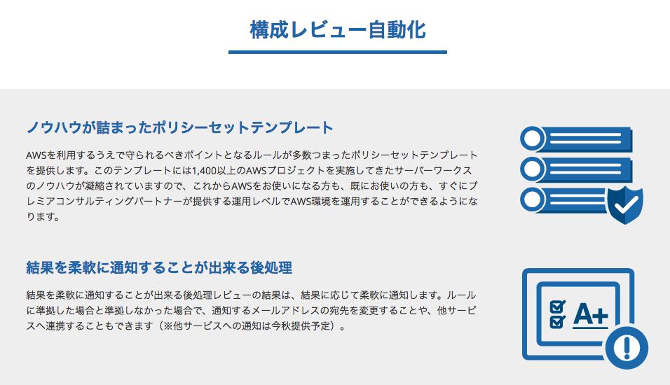 【プレスリリース】AWS運用自動化サービス「Cloud Automator」に新機能、構成レビュー自動化機能を追加